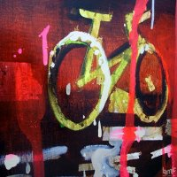 "Stages - Rosson Crow ""Texas Cycle Show"" Oil, acrylic, and enamel on canvas, (...)"